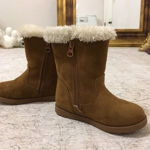 Cat & Jack Shoes - Cat & Jack Brown Faux Fur Winter Boots